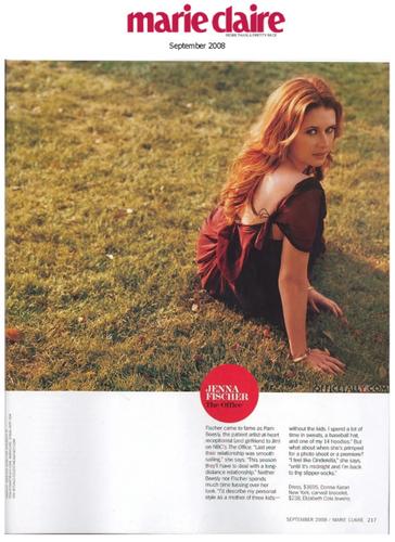 Jenna Fischer in Marie Claire