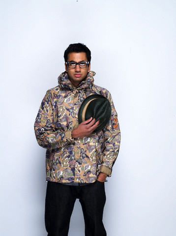 Kal Penn wallpaper probably with an outerwear, a tabard, and a green beret entitled Kal Penn Photoshoot for Complex Magazine