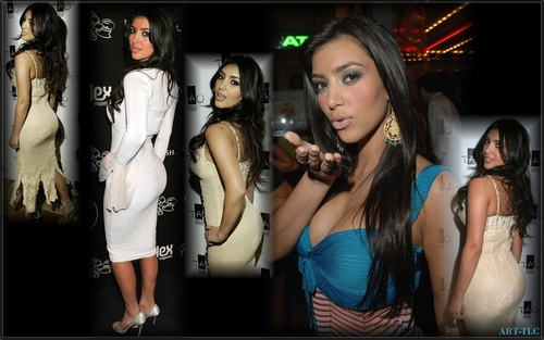 Kim Kardashian wallpaper possibly with a sign, a carriageway, and a portrait entitled Kim wallpapers
