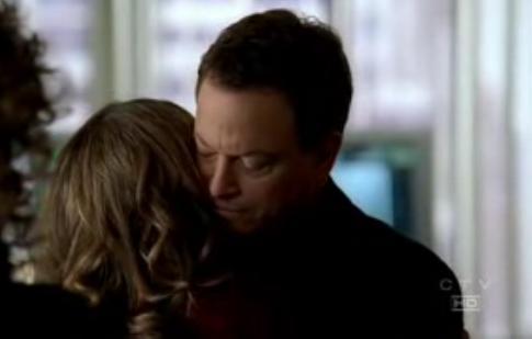 Mac and Lindsay hug