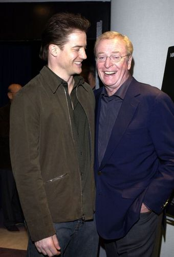 Michael Caine and Brendan Fraser