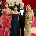 Michael Caine and Shakira and daughters