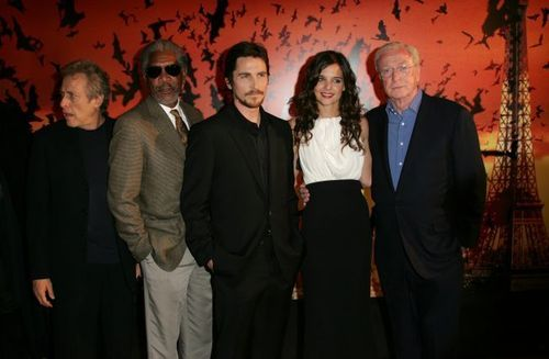 Michael Caine and cast of Batman Begins
