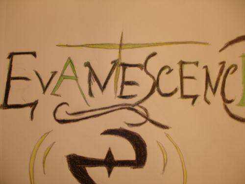 Evanescence wallpaper probably with a sign called My version of the Evanescence logo
