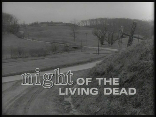 Night Of The Living Dead movie titel screen