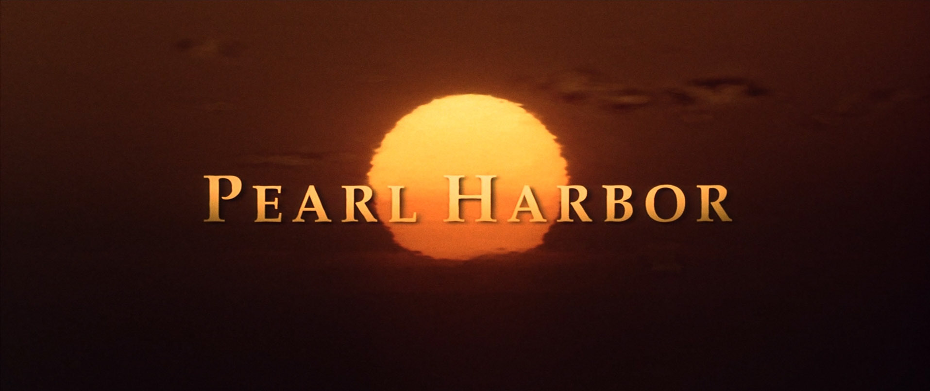Pearl Harbor movie title screen