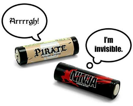 Pirate and Ninja batteries