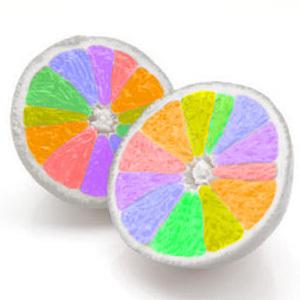 pelangi, rainbow oranges