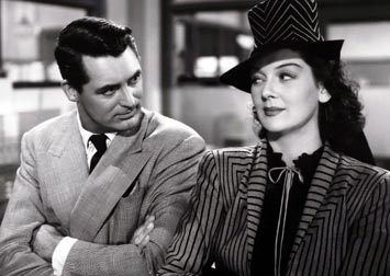 "Rosalind Russell and Cary Grant in ""His Girl Friday"""