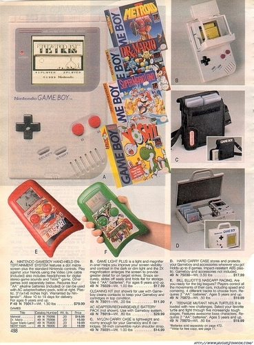 Sears Catalog - Gameboy Page