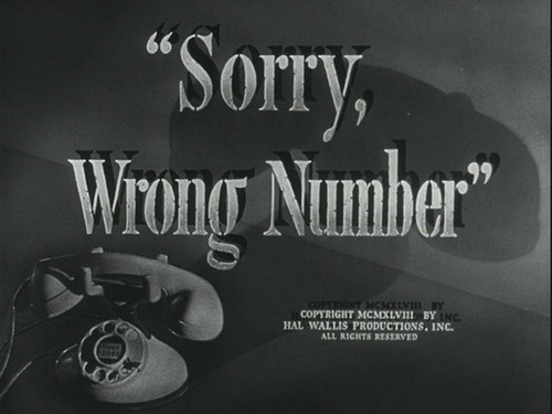 Sorry, Wrong Number movie título screen