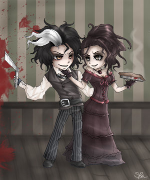 Sweeney Todd and Mrs. Lovet