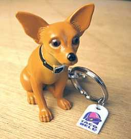 Keychains wallpaper containing a chihuahua titled Taco Bell Chihuahua Keychain