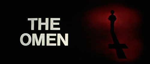 The Omen movie title screen