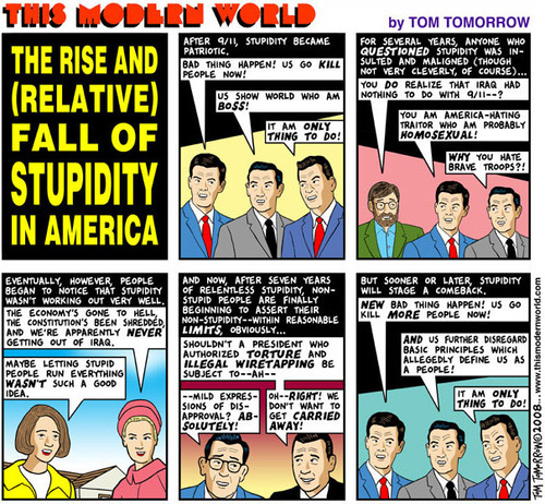 The Rise and Fall of Stupidity in America