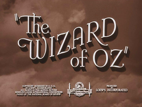 The Wizard Of Oz movie Titel screen