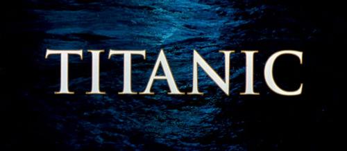 Titanic movie Titel screen