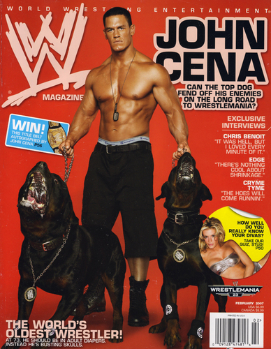 John Cena wallpaper called WWE Magazine February 07 Cover - John Cena