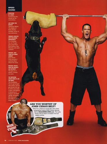 wwe Magazine February 07 - John Cena