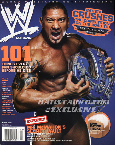 WWE Magazine March '07 Cover