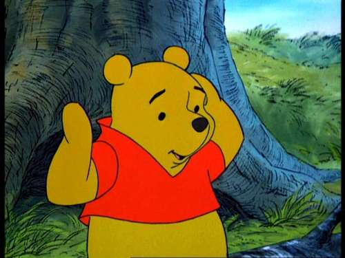 Winnie the Pooh achtergrond probably with anime titled Winnie the Pooh and the Blustery dag