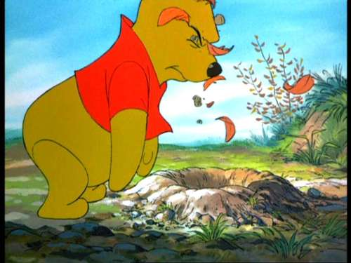Winnie the Pooh wallpaper with Anime called Winnie the Pooh and the Blustery giorno