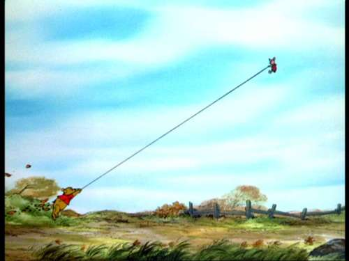 Winnie the Pooh wolpeyper possibly with a wind turbine called Winnie the Pooh and the Blustery araw