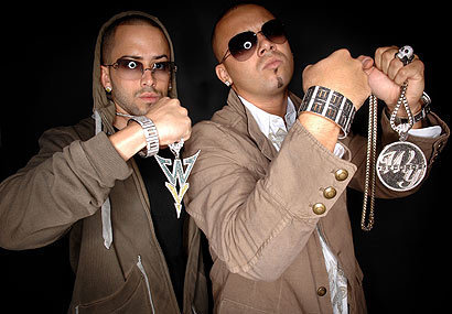 Wisin y Yandel wallpaper probably containing dress blues and sunglasses called Wisin Y Yandel