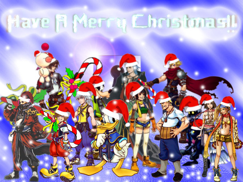 Kingdom Hearts fond d'écran probably containing animé entitled kh christmas