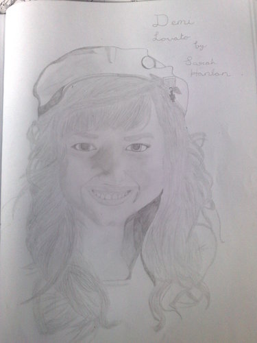 my demi lovato drawing