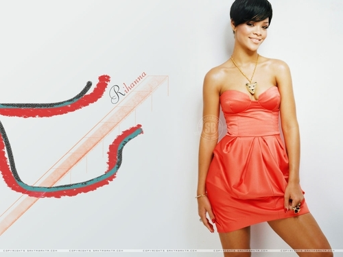 Rihanna wallpaper probably containing a dinner dress, a cocktail dress, and a gown titled rihanna wallpaper