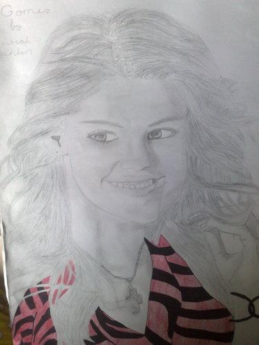 selena gomez drawing
