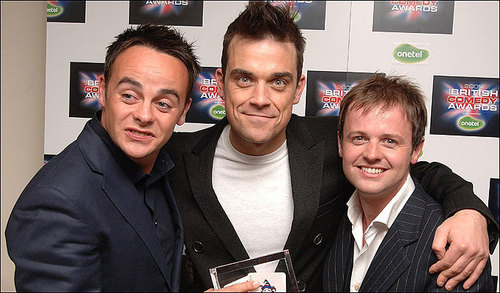 Ant & Dec with Robbie Williams