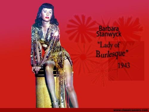 Barbara Stanwyck w'paper