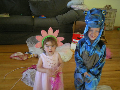 Blake and Lucia in costume, summer 2008