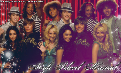 High School Musical 3 karatasi la kupamba ukuta entitled Corbin Bleu, Lucas Grabeel, Monique Coleman, Zac Efron, Vanessa Hudgens & Ashley Tisdale