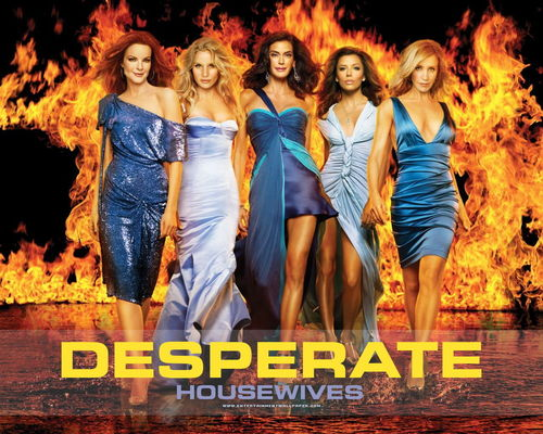 desperate housewives wallpaper containing a jantar dress, a fire, and a bridesmaid titled Desperate Housewives