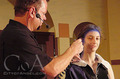 Doing the make-up of illyria