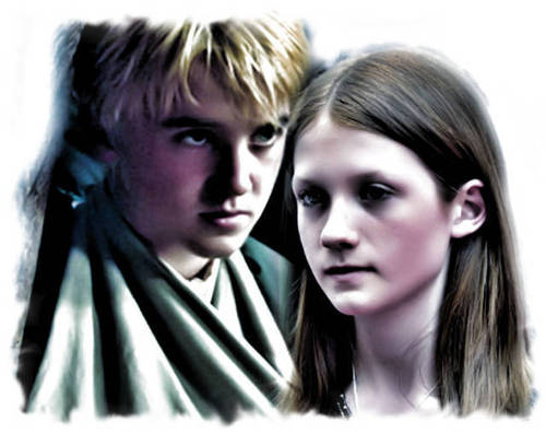 Draco and Ginny wallpaper with a portrait entitled Draco and Ginny