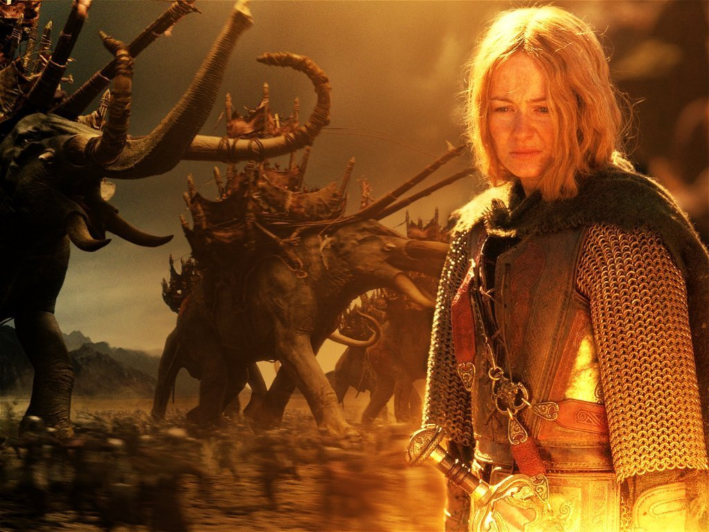 Shieldmaiden Of Rohan From The Lord Of The Rings