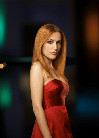 The X-Files fond d'écran with a dîner dress, a cocktail dress, and a strapless entitled Gillian Anderson