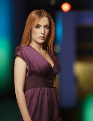 The X-Files fond d'écran with a dîner dress and a cocktail dress entitled Gillian Anderson