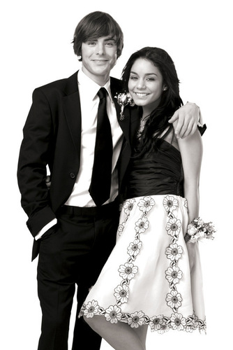 Zac Efron & Vanessa Hudgens wallpaper probably with a business suit entitled HSM
