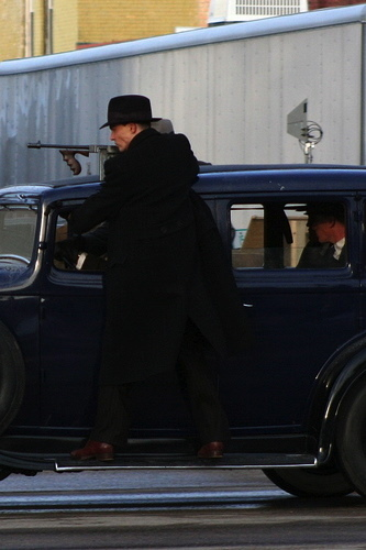 Johnny shooting Public Enemies
