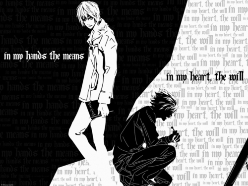 Death Note images Light and L HD wallpaper and background photos