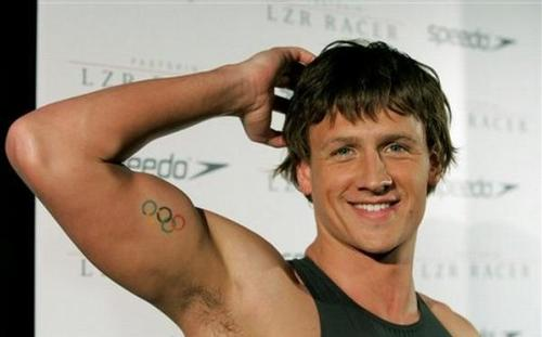 Ryan Lochte wallpaper with a portrait called Lochte's tattoo