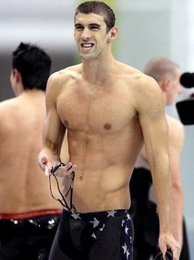 Michael Phelps wallpaper with a six pack and a hunk entitled MP