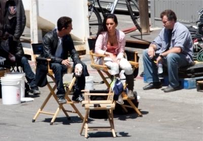 Megan on set Người vận chuyển 2