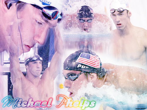 Michael Phelps پیپر وال with a breaststroker, a water, and a hot tub titled Michael