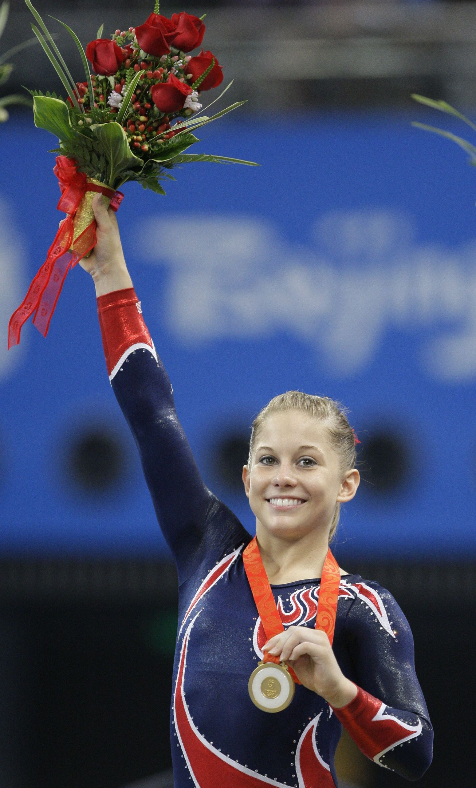 Watch Shawn Johnson 4 Olympic medals in gymnastics video